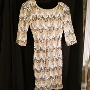 Stunning Semi-Sheer Crystal Doll Dress XS